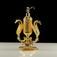 Дозатор жидкого мыла настольный (два лебедя), стекло Migliore Luxor арт.26220