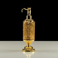 Дозатор жидкого мыла настольный, стекло Migliore Luxor арт.26166