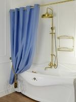 "Шторка для душа/ванны ""Голубой/Узор Ар-Деко"" арт.25530"