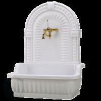 Раковина напольная с декоративной пристенной панелью ML.OLV-45.100.BI