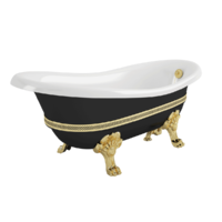 "BELLA DECOR Ванна 170x81xH74 см. на лапах ""LEONE"" STANDART, черная"