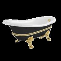 "BELLA DECOR Ванна 170x81xH74 см. на лапах ""MIGLIORE"", черная"