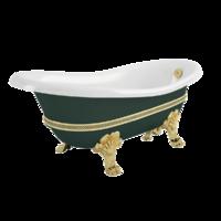 "BELLA DECOR Ванна 170x81xH74 см. на лапах ""LEONE"" STANDART, зеленая"