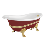 "BELLA DECOR Ванна 170x81xH74 см. на лапах ""LEONE"" STANDART, красная"