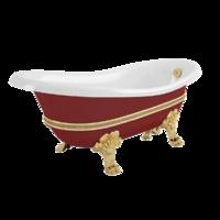 "BELLA DECOR Ванна 170x81xH74 см. на лапах ""MIGLIORE"", красная"