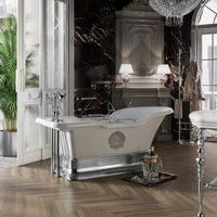 Ванна Impero Podium на подиуме с декором 1