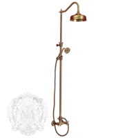 ONDA Декор D1 Колонна душевая регулир. с девиатором (полоса витая рифленая) ML.OND-36.217.D1