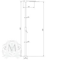 KOBUK Душевая напольная колонна со смесителем,верхним душем и ручной лейкой ML.KOB-2270