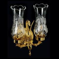 LUXOR Светильник настенный двойной (большая розетка), плафоны стекло арт.26157