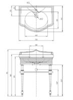 Fortuna Консоль напольная 73 см с раковиной
