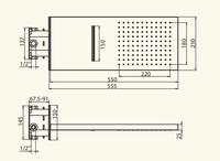 Corner Z Верхний душ с каскадом 550x230 мм Migliore арт. 26098