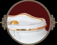 Унитаз напольный c низким бачком Milady с Кнопкой, Декор Золото D2