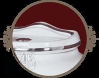 Унитаз напольный c низким бачком Milady с Кнопкой, Декор Платина D2/PL