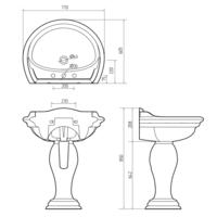 Раковина-тюльпан Migliore Milady 77 СМ ML.MLD-25.773