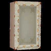 BELLA Витрина подвесная, стекл.дверь DX L58,5xh99xP25 см, стекло матвое с декором