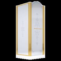 DIADEMA Душ.каб.квадратная 90х90хH203 см. дверь расп. SX, стекло прозрачное/декор