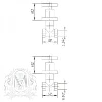 "NAXOS Кран запорный, прямой F1/2""xF1/2"" ML.NAX-7660"