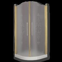 DIADEMA Душ.каб.угловая R90xH195 см. 2 распашные двери, стекло прозрачное/декор