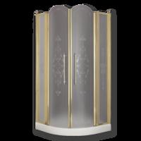 DIADEMA Душ.каб.угловая R90хH195 см. 2 расп.двери с неподв.эл-ми, стекло прозрачное/декор